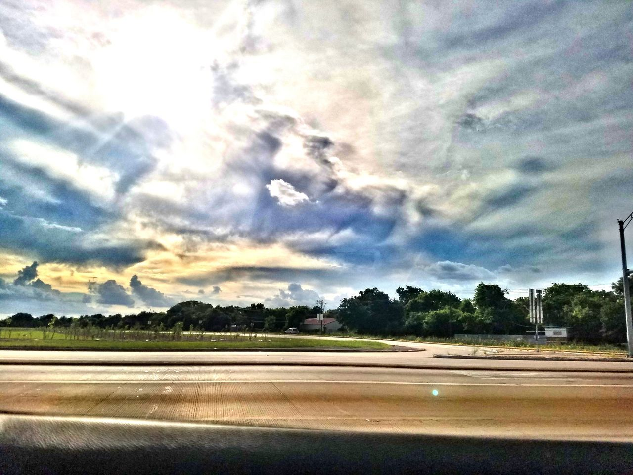 sky, road, cloud - sky, nature, no people, landscape, transportation, outdoors, scenics, tree, beauty in nature, day
