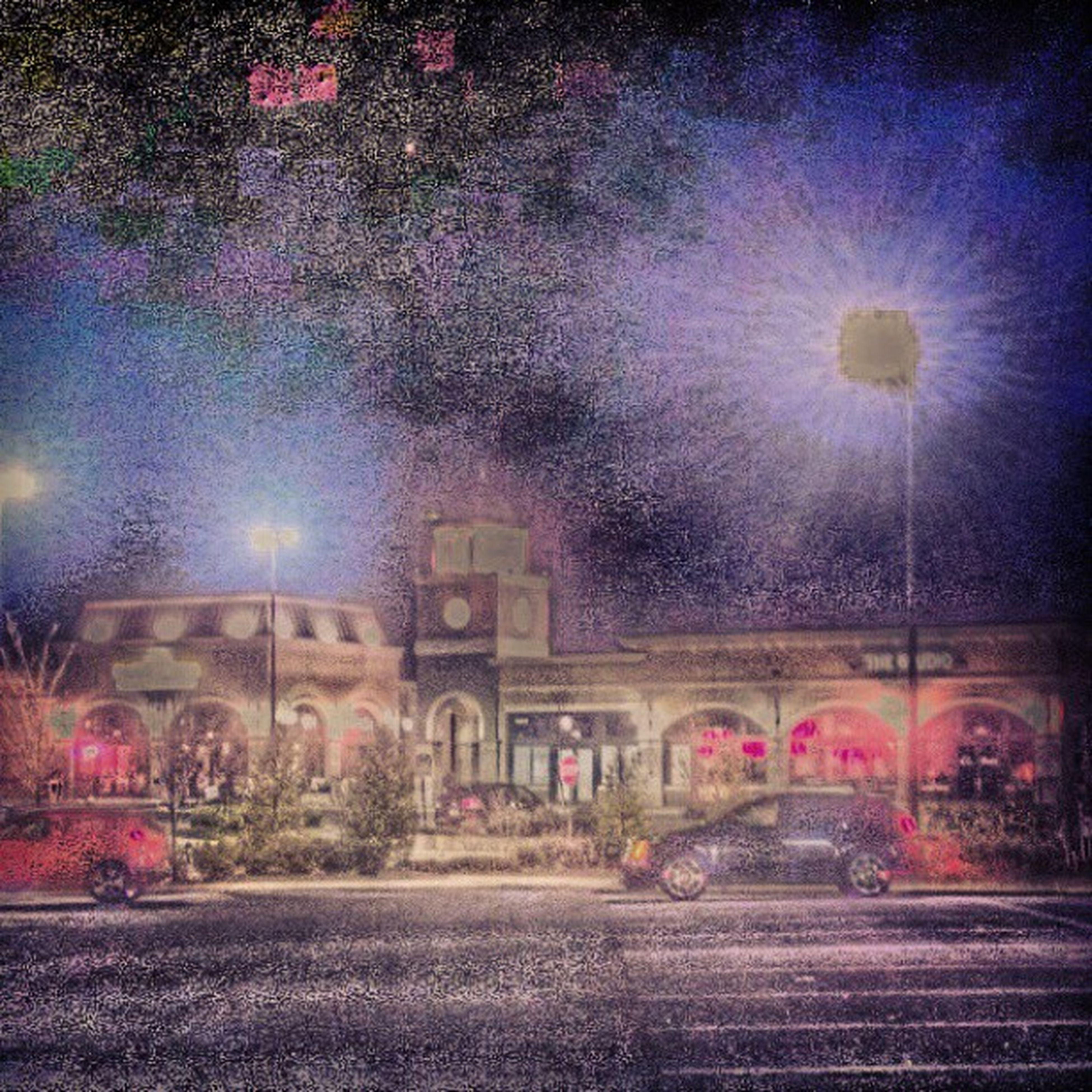 Goose Creek Plaza at Night