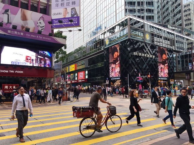 Busy Street City Life Built Structure Travel Destinations Outdoors Store Crowd People