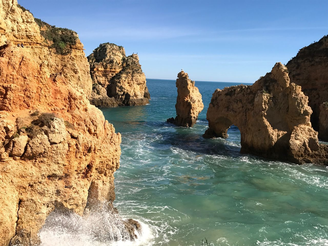 Ponta Da Piedade Lagos Algarve Portugal Sea Nature Beauty In Nature Rock - Object Rock Formation Scenics Tranquility Sky Water No People Tranquil Scene Outdoors Day Beach
