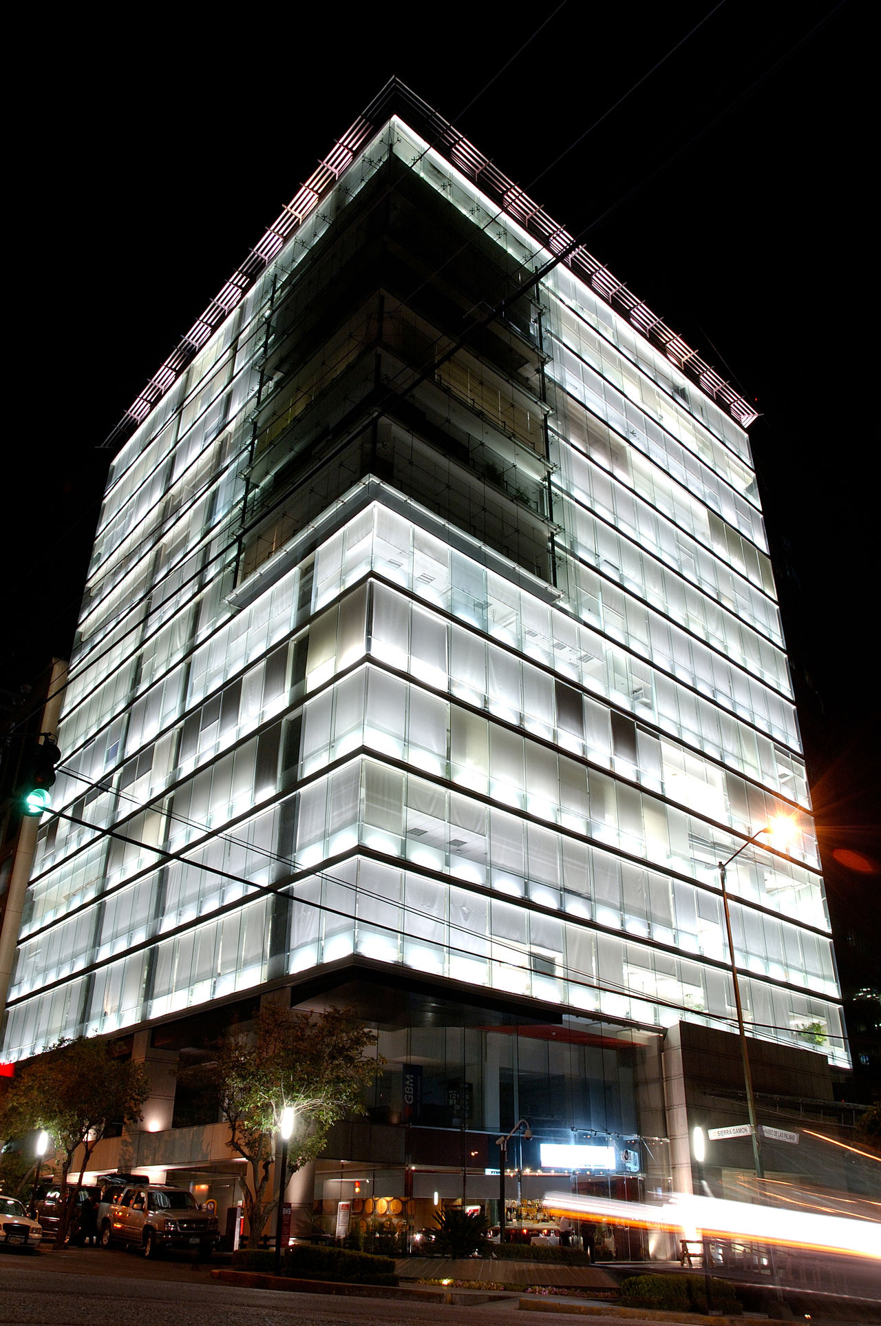 Architecture Building Exterior Built Structure City Illuminated Low Angle View Modern México City, Night Night Photography No People Outdoors Sky
