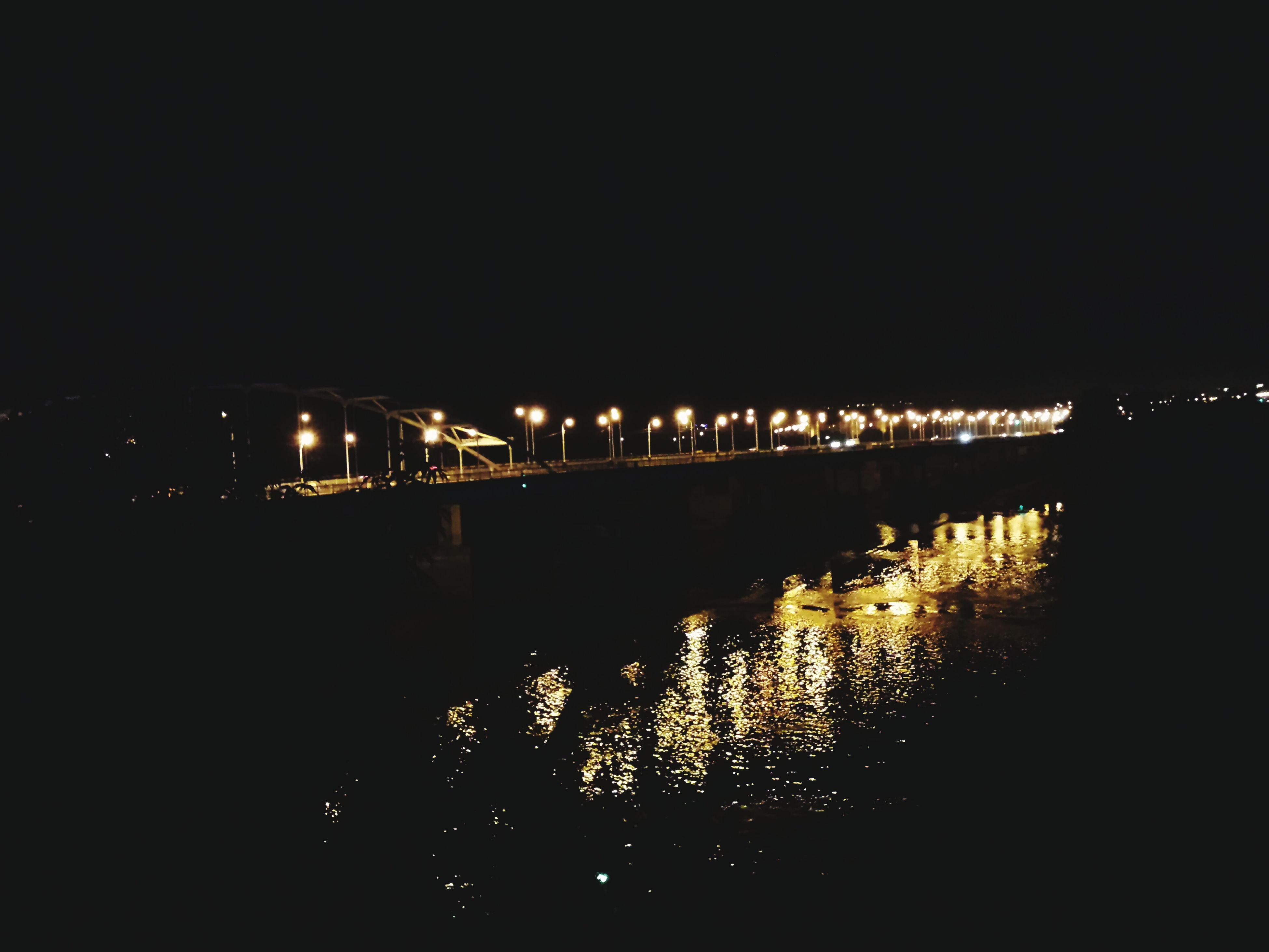Ufa Russia Agidel River Bridge Night City City Lights