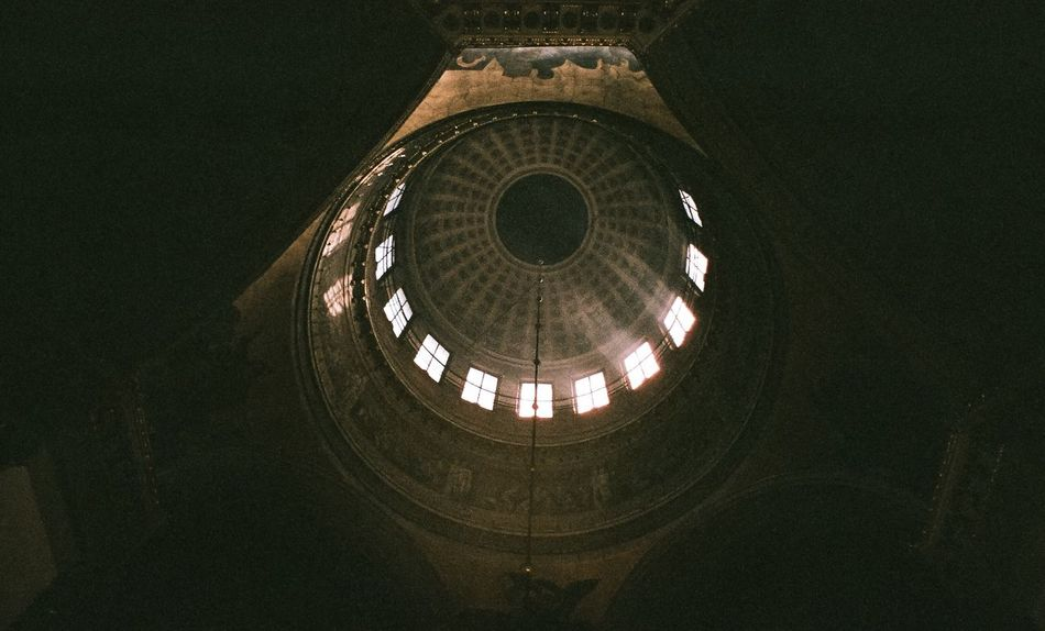 Architecture Built Structure Dark No People Architectural Feature Building Story Film Film Photography Filmphotography Church Light And Shadow Light Lights Peterburg