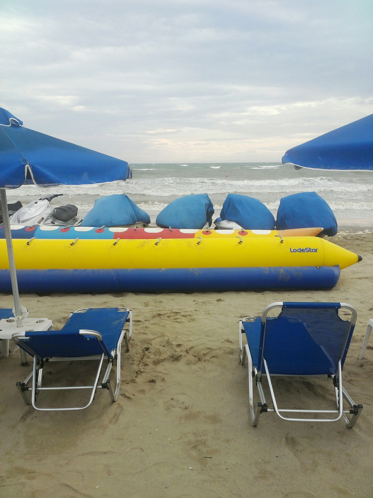 Beach Banana Sea Wind Rain Seashore Waves Sky Durres Albania