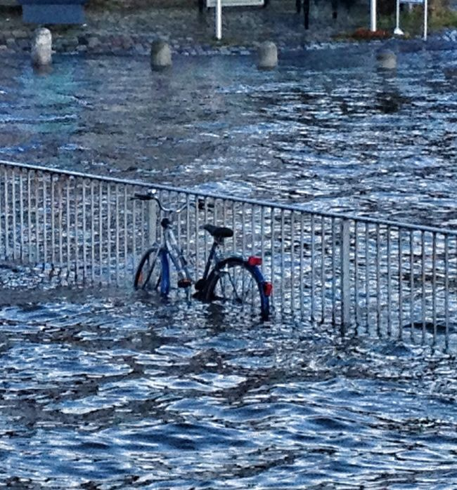 """After storm """"Xaver"""" Flood Water_collection Bicycle Taking Photos"""