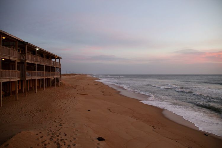 Americana Buxton North Carolina Outer Banks, NC USA Beach Beachphotography Beauty In Nature Cape Hatteras Horizon Over Water Nature No People Ocean Outdoors Sand Scenics Sea Sunrise Sunset Tranquility Water Wave