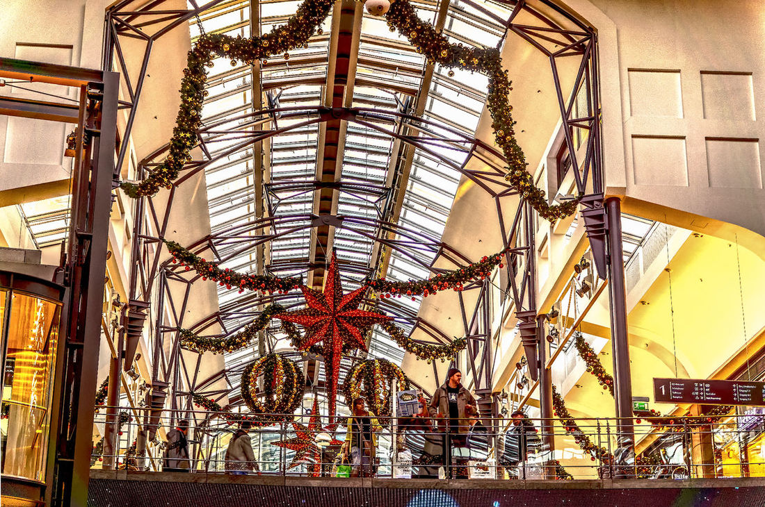 Arts Culture And Entertainment Beauty In Nature Centro Oberhausen Christmas 2016 Day Decoration Hdrphotography Indoors  Low Angle View Sky