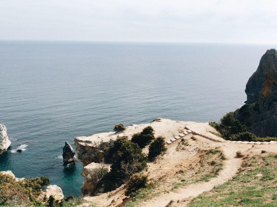 Sea Water Nature Rock - Object Beauty In Nature No People Outdoors Sky Day Crimea Sevastopol  Vscocam VSCO Black Sea Fiolent