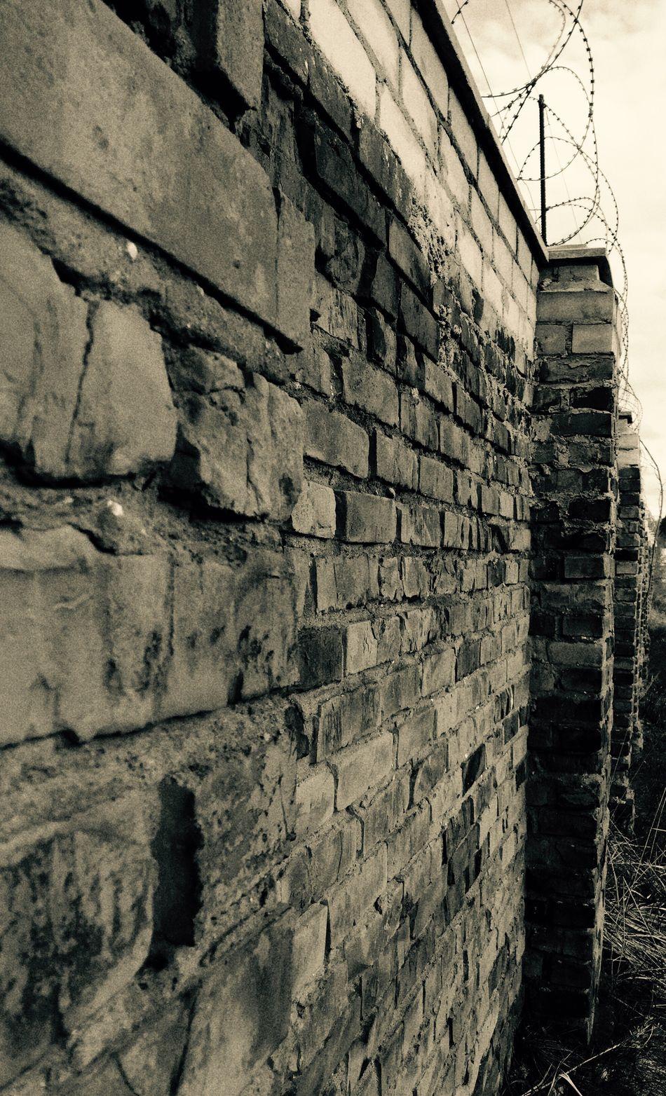 Wall Bricks Black White Dark Prison Urban No People Brick Wall EyeEmNewHere