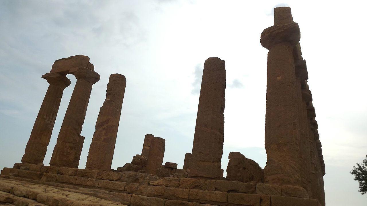 Agrigento Agrigente History Cloud - Sky No People Sicily Sicilia Italy Italia Ruins Of A Past Ruins Still Beautiful