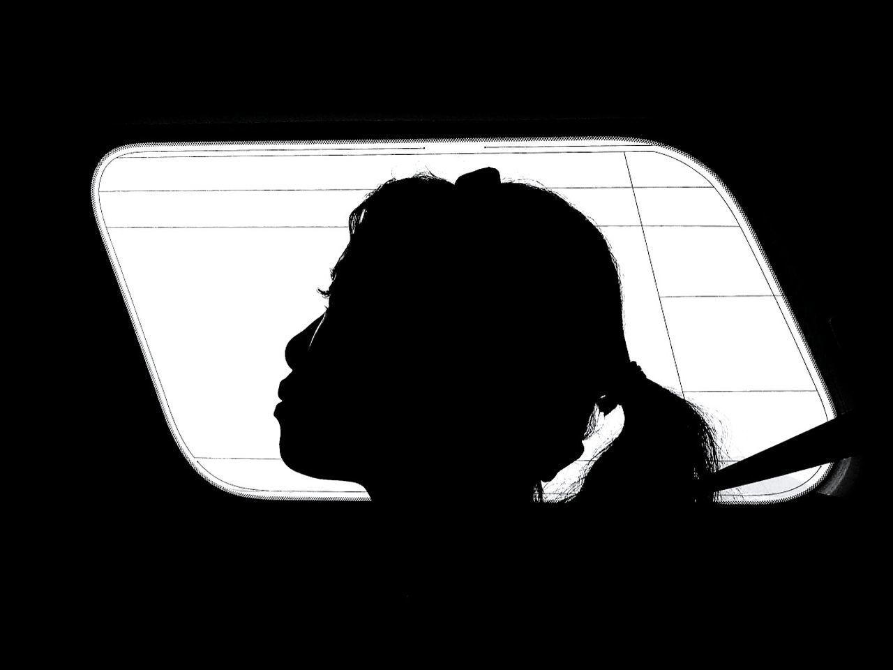 Silhouette One Person Adult Adults Only Headshot Disappointment Only Men Human Body Part Black Background Depression - Sadness People Portrait Young Adult Shy Young Women Traveling Home For The Holidays CarRides Roadtrip Traveling Home For The Holidays