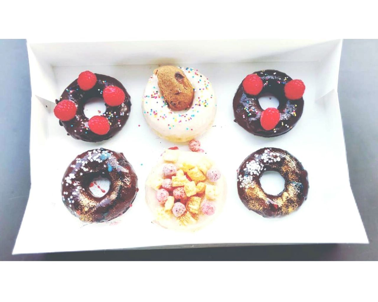 Food And Drink Sweet Food Food No People Day Doughnuts Donuts Breakfast Brunch Half Dozen Raspberry