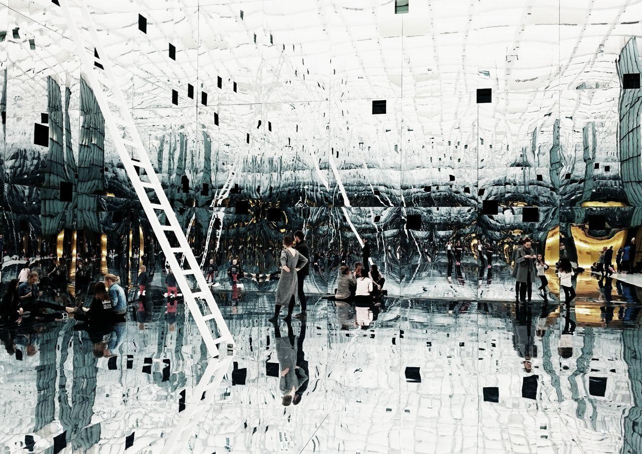 "Dani Karavan ""Reflection/Odbicie"" Silesia Silesian Museum Museumofmodernart Museum Art Mirrors Dani Karavan Indoors  Kato  Katowice"