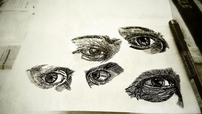 Everyday drawing - Attempt to draw eyes Eyes Hand Drawing Sketch The Tree Academy