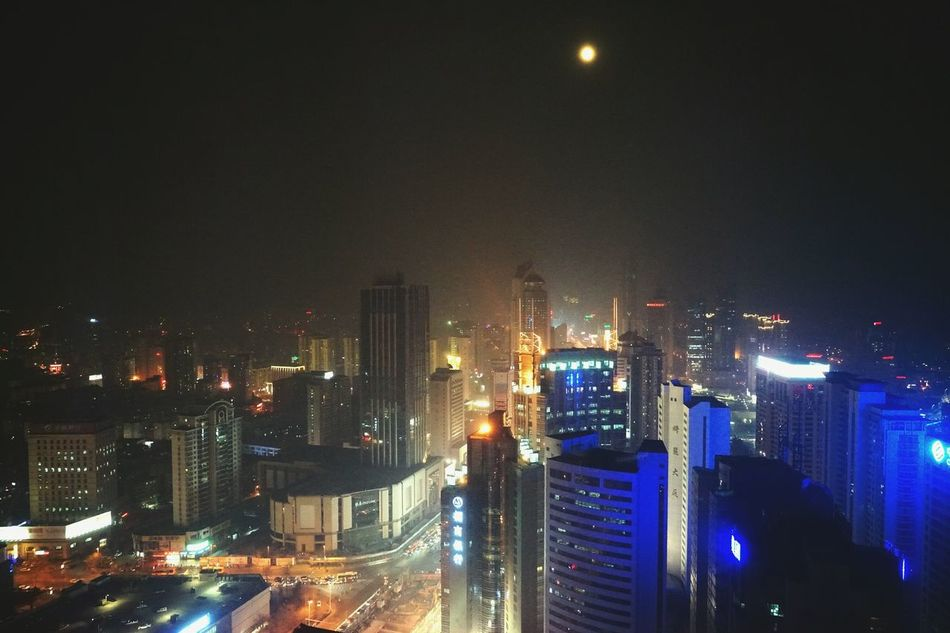 China Photos Nightphotography Night Lights Lights Moon Streetphotography Light And Shadow Cityscapes Traveling Streamzoofamily