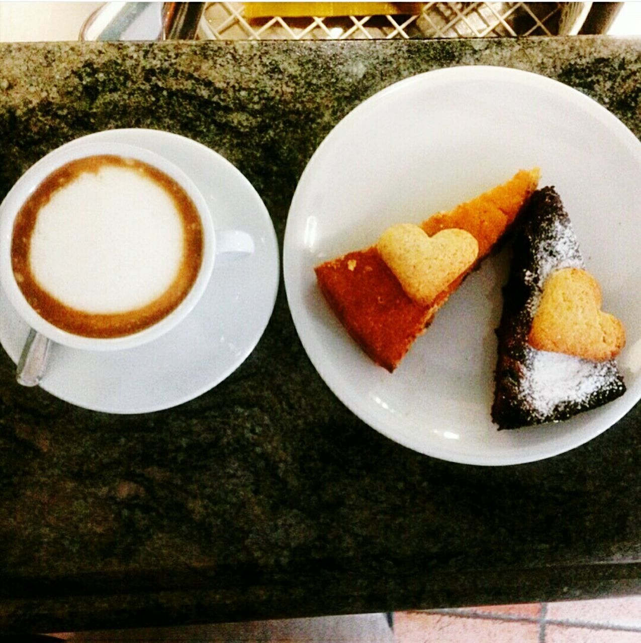 food and drink, table, food, freshness, plate, serving size, still life, refreshment, sweet food, indulgence, ready-to-eat, dessert, coffee cup, temptation, drink, no people, indoors, coffee - drink, close-up, slice, cake, unhealthy eating, frothy drink, pastry, day