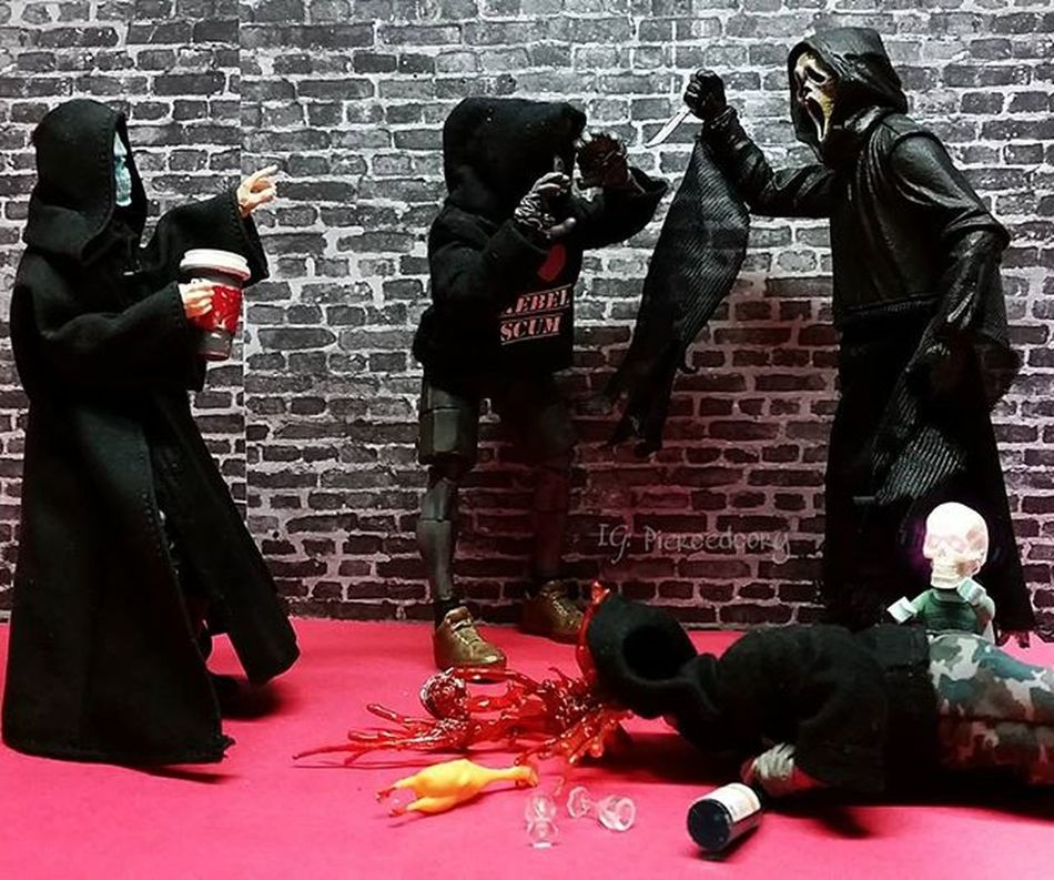 Never mess up Deaths coffee! Coffeeordeath Adventuresofdeath Krashes_502nd Krashes_kustoms LEGO Ghostface Tcbc_halloween2015 Bikerscout Scream