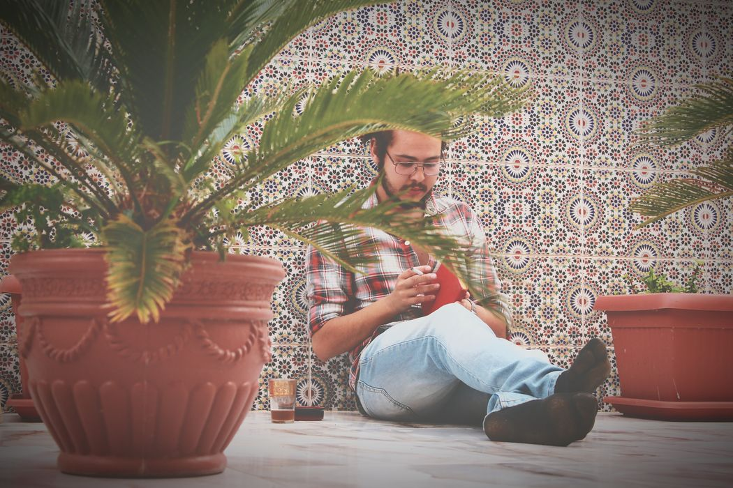 Nature Read Book Dirt Saidia Day Men One Person Beard Full Length Concentration Photography Loneliness Winston Morocco Cigarette  Lifestyles Drinking Glass Summer Vibes Clear Sky Summerfeelings Environment Tree