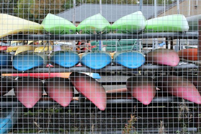Abundance Arrangement Backgrounds Canoes Close-up Colours Day Full Frame Green Color In A Row Large Group Of Objects Multi Colored No People Outdoors Rack Repetition Retail  Shelf Spool Variation Vibrant Color
