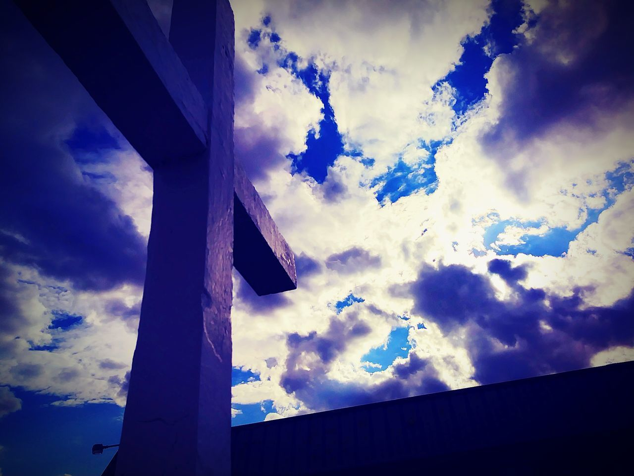 cloud - sky, sky, low angle view, no people, day, outdoors, built structure, architecture, nature