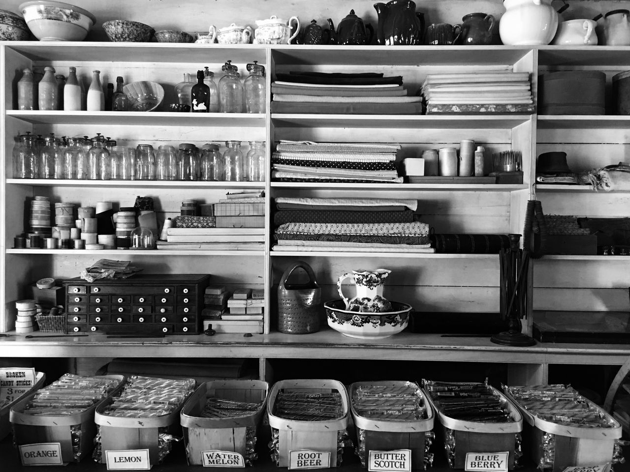 shelf, large group of objects, variation, shelves, indoors, for sale, choice, arrangement, abundance, retail, no people, food, day