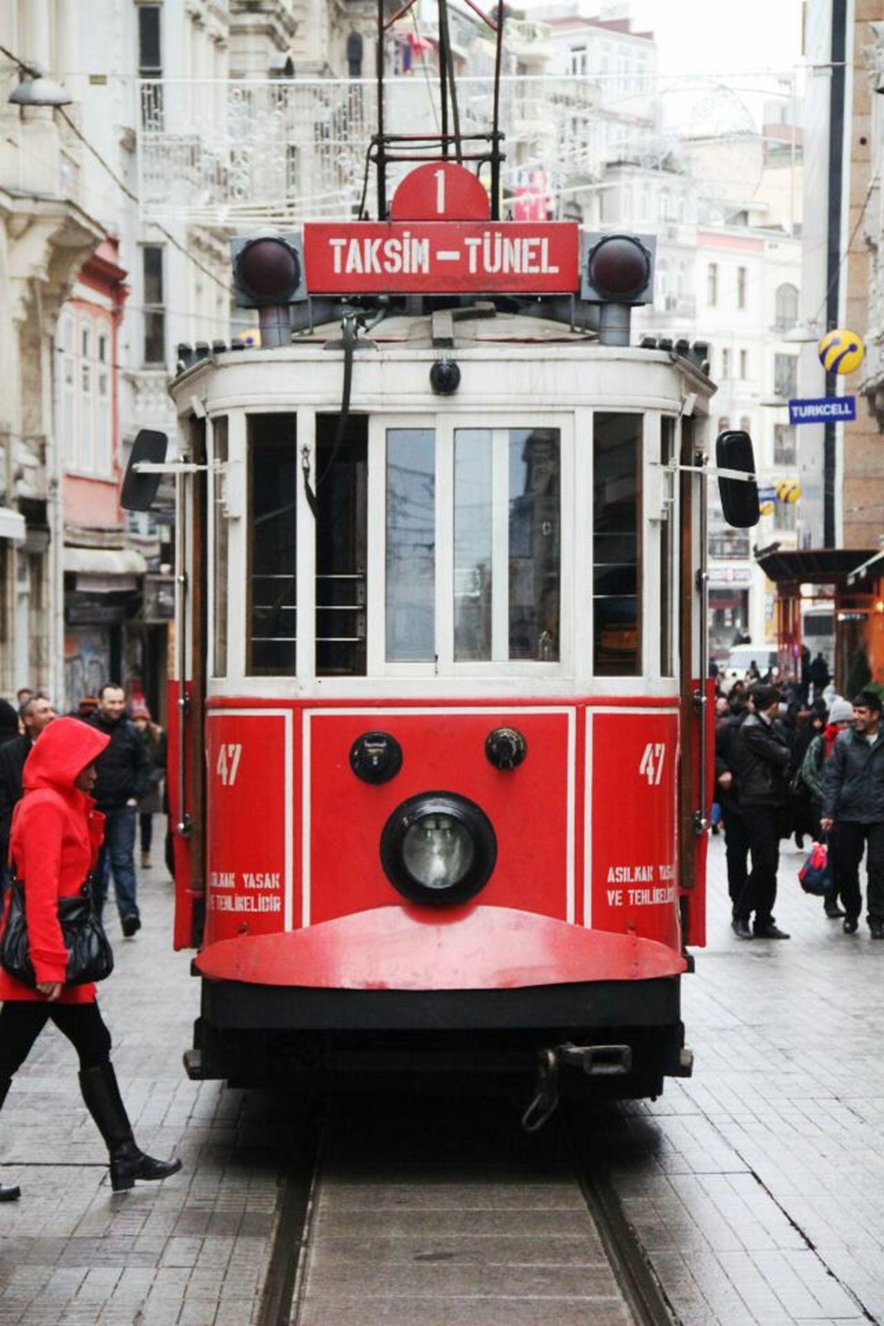 What The Bus? Bus Tram Zug Public Transportation Transportation Taksim Istanbul Red
