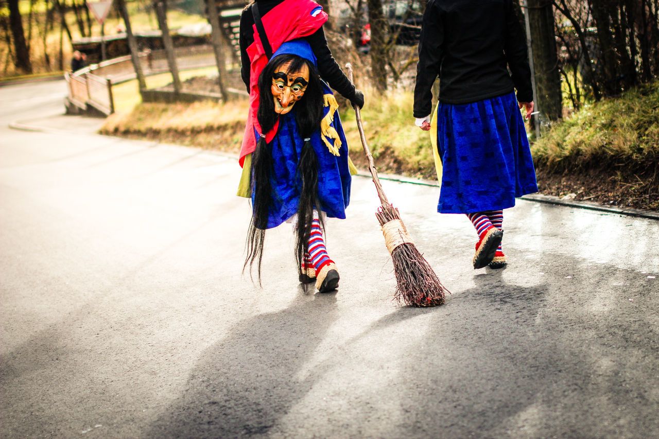 Carnival in Germany Broom Carnival Costume Face Feet Fun Germany Leisure Activity Mask Old Outdoors Road The Street Photographer - 2016 EyeEm Awards Unrecognizable People Walking Witch Carnival Crowds And Details