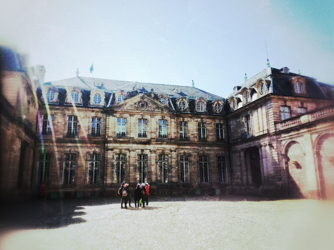 Architecture Built Structure City Life Cour Des Rohans Day Group Of People Leisure Activity Lifestyles Medium Group Of People Outdoors Sky Tourism Tourist Travel Destinations