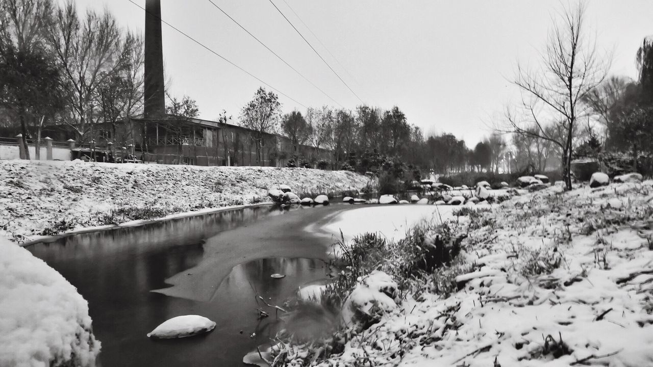 < frozen river> Cold Temperature No People Landscape Storm Darkness And Light Nature Riverside River Chinatown China Fujiflim Xa2 Outdoors Snow Snow ❄ Calmness Calm Stillness In Water StillLifePhotography Picturesque Landscape_photography Landscape_Collection Village Chinese 雪 ❄ 。
