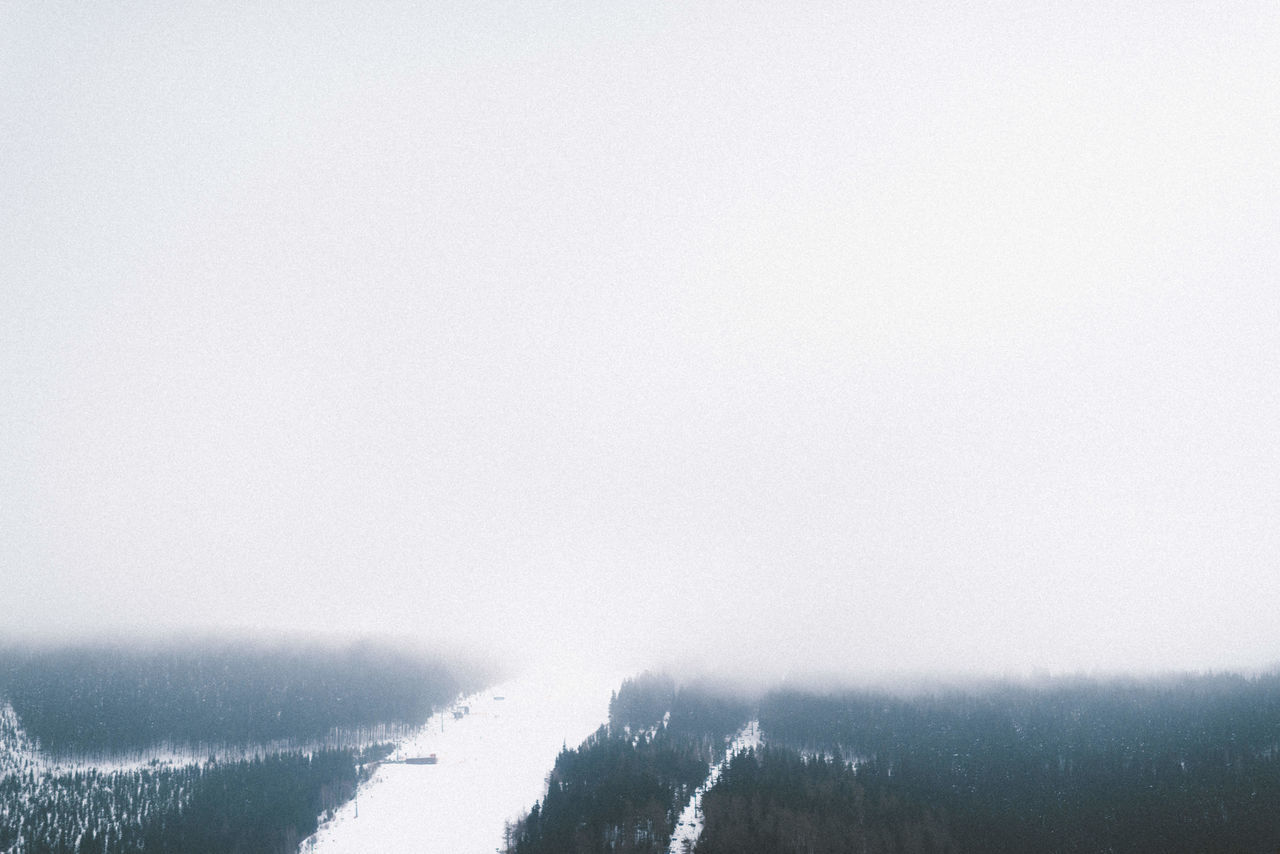 Beauty In Nature Cold Temperature Czech Day Discover Your City Fog Hill Mountains, Hills, Distant, Scenery, View, Scenic, Landscape, Seascape, Water, Nature No People Outdoors S Scenery, Scenics Ski Skiing Sky Snow Tranquil Scene Tranquility V Water