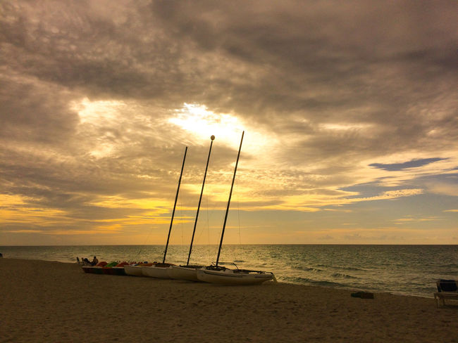 Sunset Sea Nautical Vessel Sailboat Cuba Beach Photography Relaxation What Does Peace Look Like To You? Life Is A Beach Vara