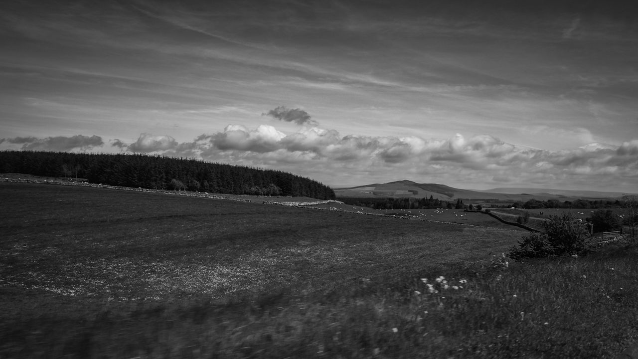 Beauty In Nature Black And White Cloud Cloud - Sky Countryside Horizon Over Land Landscape Nearly Home Rural Scene Sky