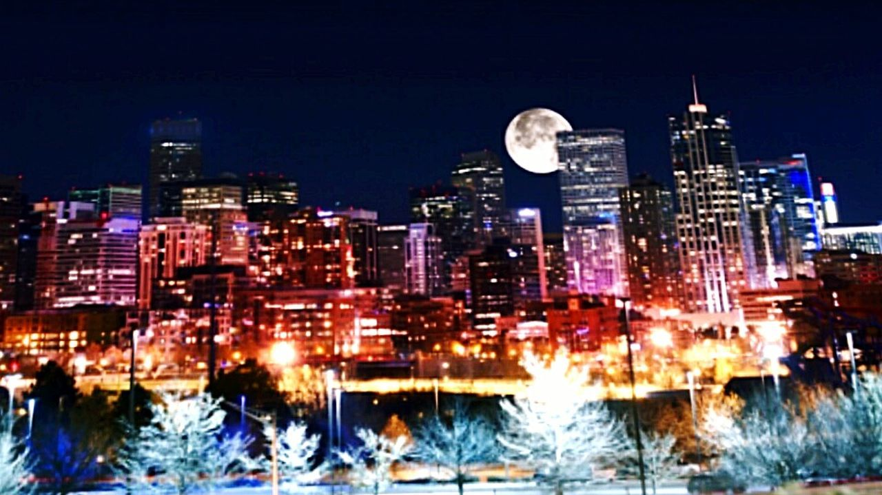 illuminated, night, building exterior, architecture, skyscraper, city, cityscape, travel destinations, urban skyline, modern, outdoors, no people, built structure, sky