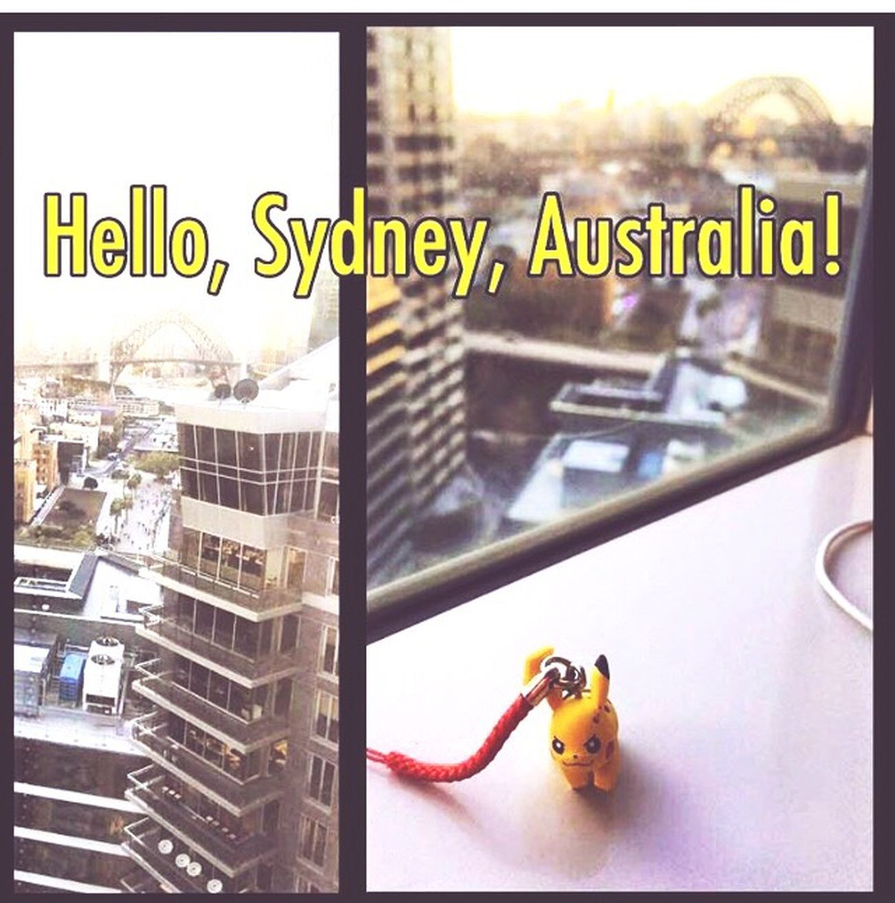 My Travel Companion I'm like a Kid Heart 😊 Pikachu Pokémon Window Toy Building Exterior No People Day Indoors  City Architecture Close-up this was in 2015  Trip Overlooking the Sydney Harbor Harbour Australia 🇦🇺 Streamzoofamily Mobilephotography