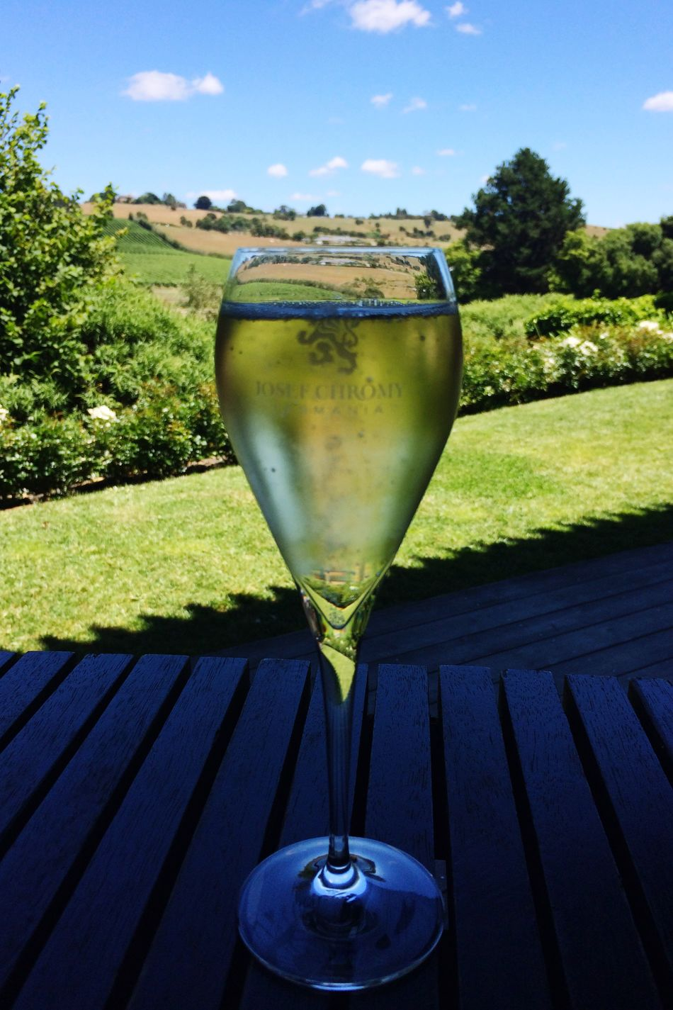 No People Day Tasmania Winery Bubbles Champagne Champagne Glasses Sun Refreshment Outdoors Drinking Glass Wineglass Drink Nature Beauty In Nature Sky