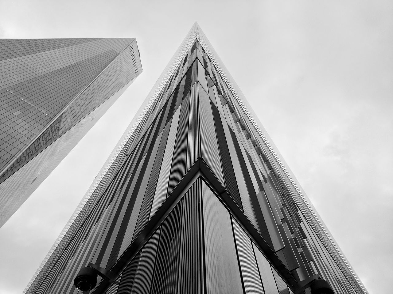 Architecture Built Structure Triangle Shape Low Angle View No People Building Exterior One World Trade Center World Trade Center WTC Building Buildings Architecture City City Building NYC New York City New York Black And White Black & White Black And White Photography Artisitic Look Up Looking Up