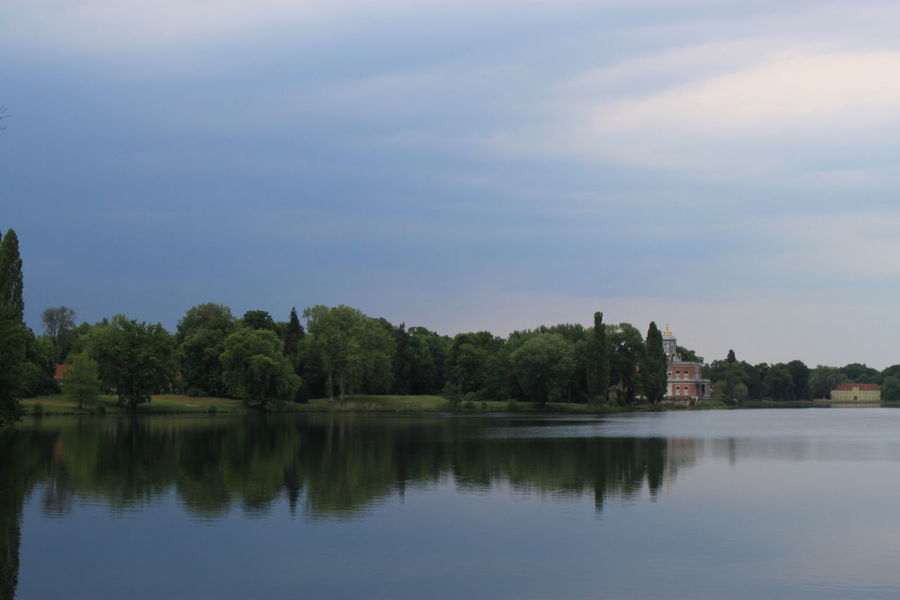View from the park Neuer Garten over the lake Blau Blue Calm Countryside Horizontal Symmetry Lake Lake View Landscape Neuer Garten Park Potsdam Reflection Reflektion Relaxing Moments See Sky Standing Water Tranquil Scene Tranquility Water