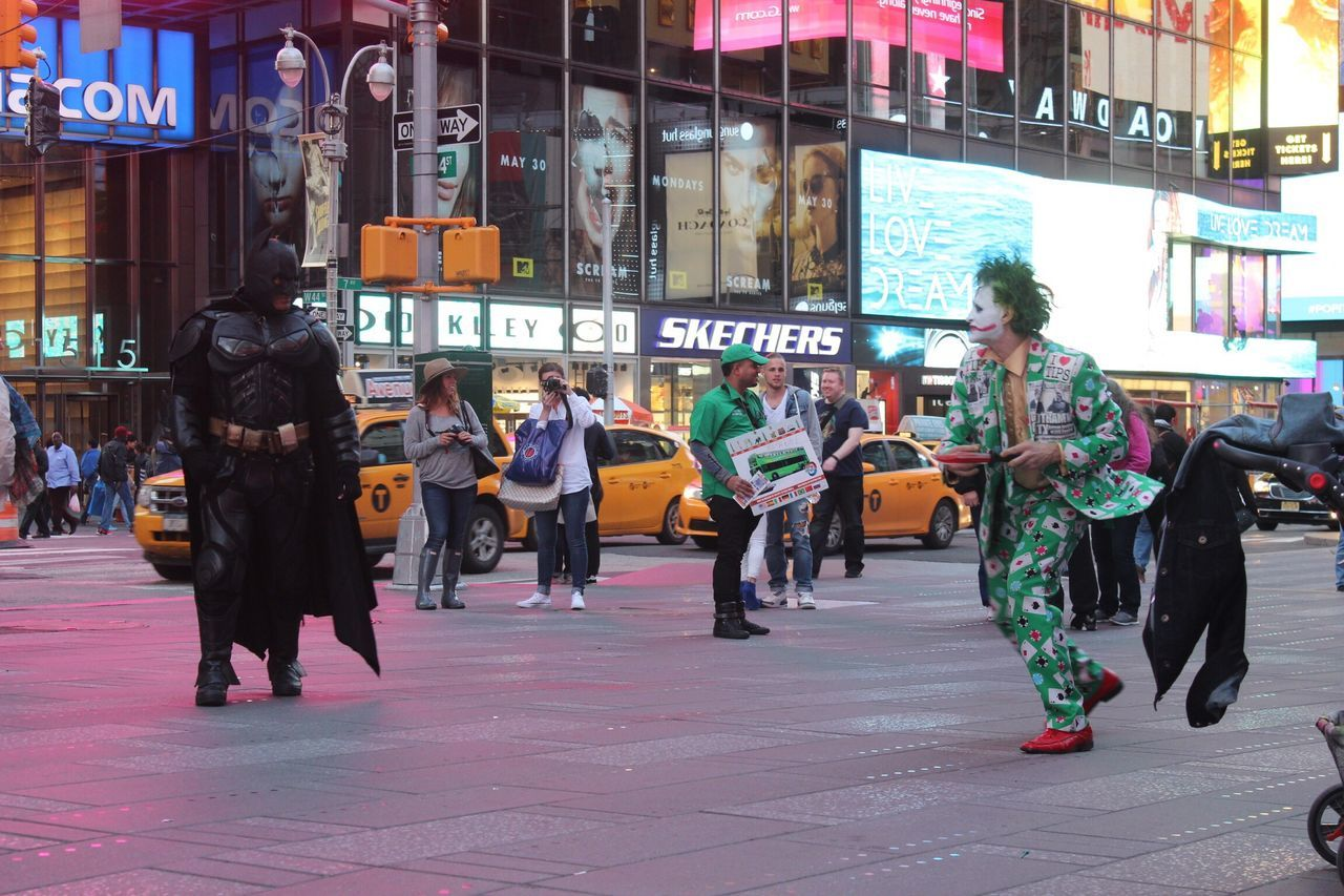 Batman Joker Dark_Knight_Rises Times_square NYC Warner_Bro DC Manhattan