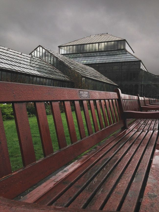 Absence Bench Day In A Row Modern No People Outdoors Park - Man Made Space Seat
