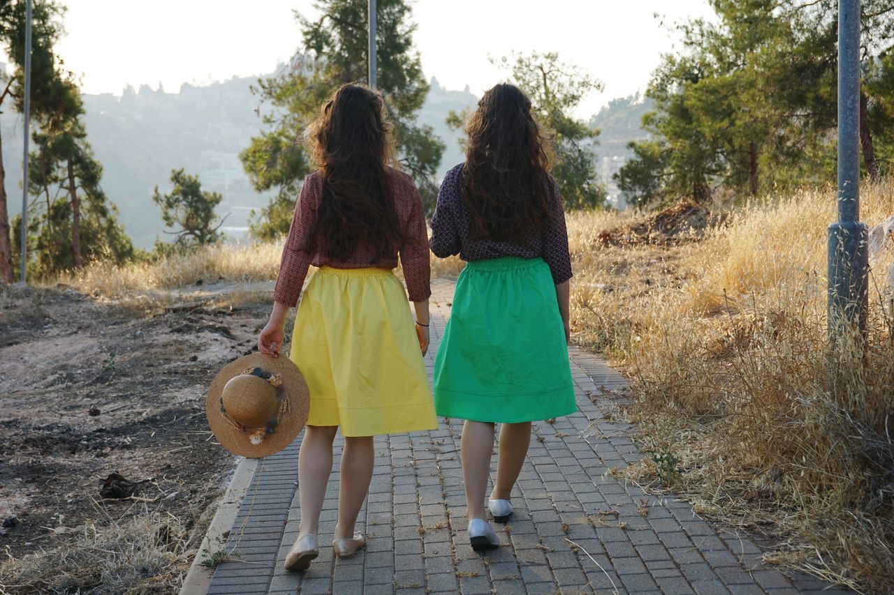 The best Twins in the world. My lovely friend . Skirt Afternoon Sun Clothing Hat Vintage Style Women Young Women Style Fancy Beuty Real People Long Hair Sunset Magic Moments Forest Road People Walking  Tow Is Better Than One Pastel Power Picturing Individuality Women Who Inspire You On The Way 43 Golden Moments Uniqueness Adapted To The City Women Around The World The Secret Spaces