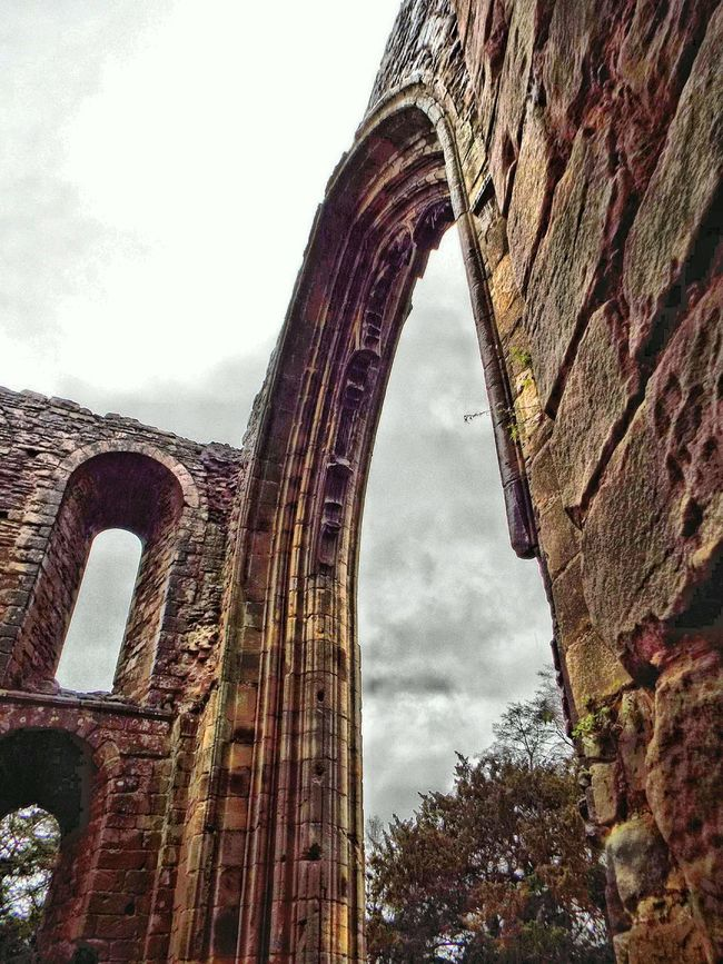 Abbey Arch Archway Arch Window Window Church Ruins Abbey Ruins Stone Sandstone Check This Out HDR Hdr_Collection Hdr Edit Monk  Sky Trees Skyward Day Out Clouds Clouds And Sky Showcase: February