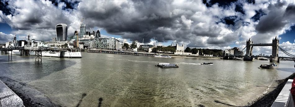 London Lifestyle Tower Bridge  Panorama Clouds And Sky LondonLove Skyline No People Cloudy Pic LONDON❤ Water Travel Destinations