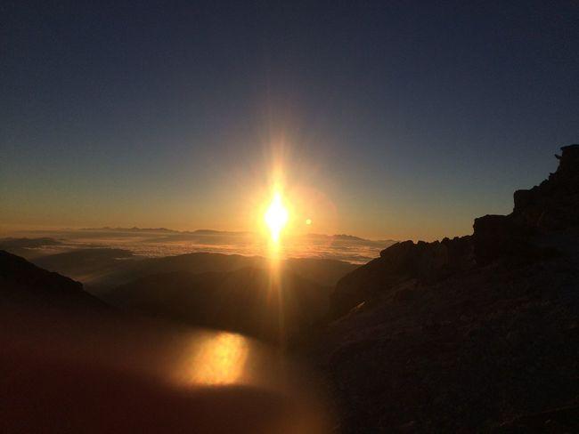 Hiking Hakusan Mountain View Sunrise