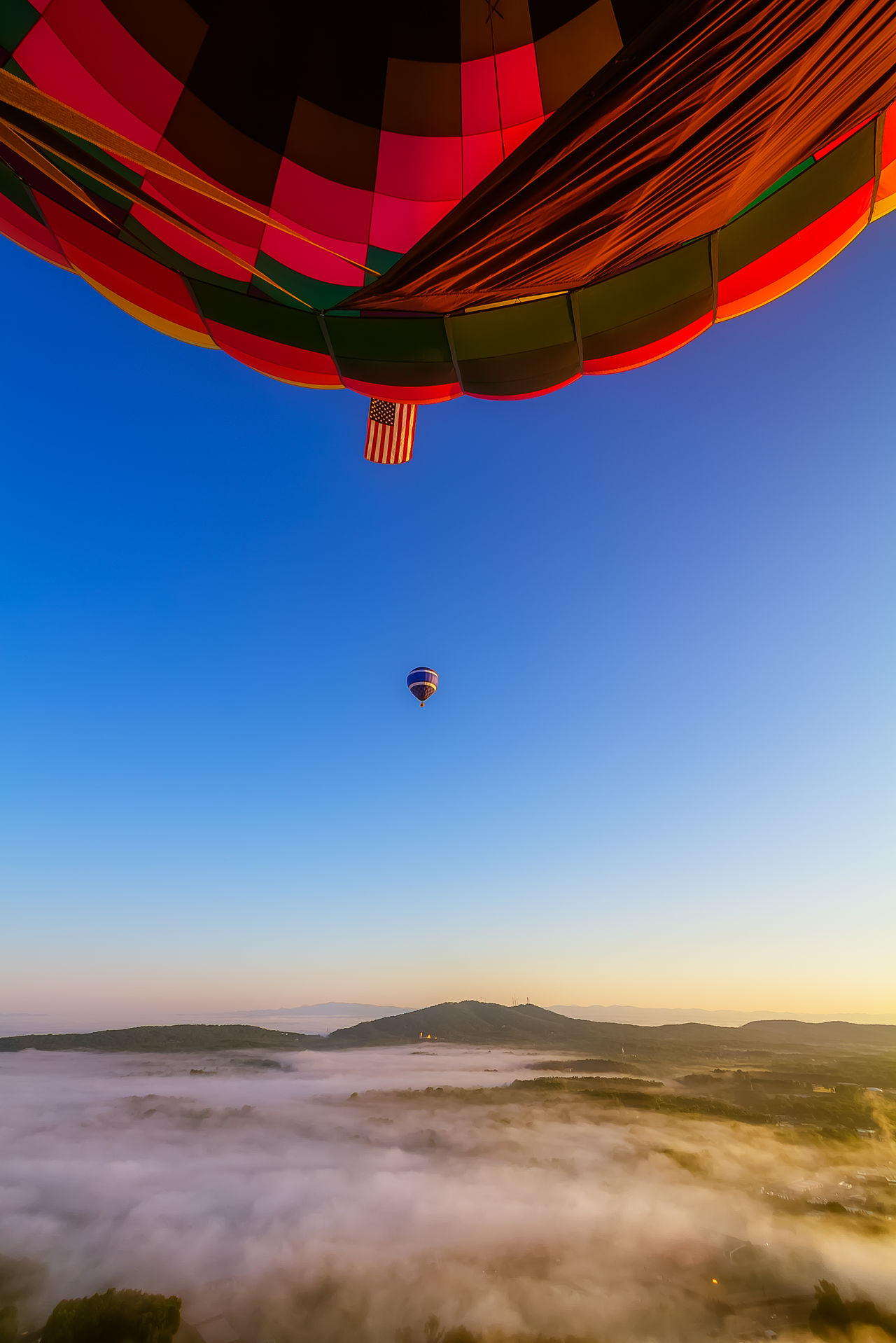 Beautiful stock photos of balloon, Air Vehicle, Beauty In Nature, Blue, Clear Sky