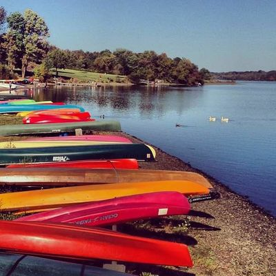 Canoe EyeEm Nature Lover Tranquility Beauty In Nature Clear Sky Day Kayak Lake Mode Of Transport Moored Nature Nautical Vessel No People Outdoors Pedal Boat Sky Transportation Tree Water Camp
