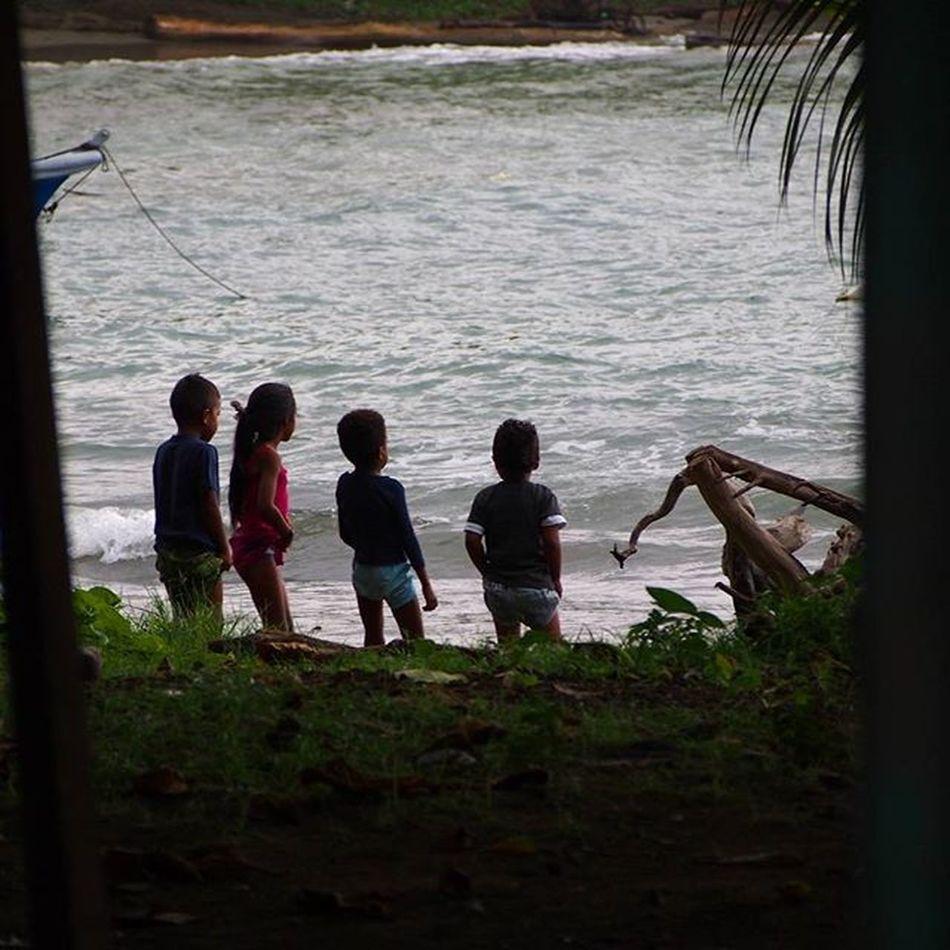 Four children watching the waves roll in, in Puerto Viejo, Costa Rica. _____________________________________ Costarica2015 Costaricagram Costarica Puertoviejo Costaricalife Tico Travelworld Travelgram Mytravelgram Instatravel Olympus Friends Children People Peoplephotography Gadventures Beach Beachlife Peopleofinstagram