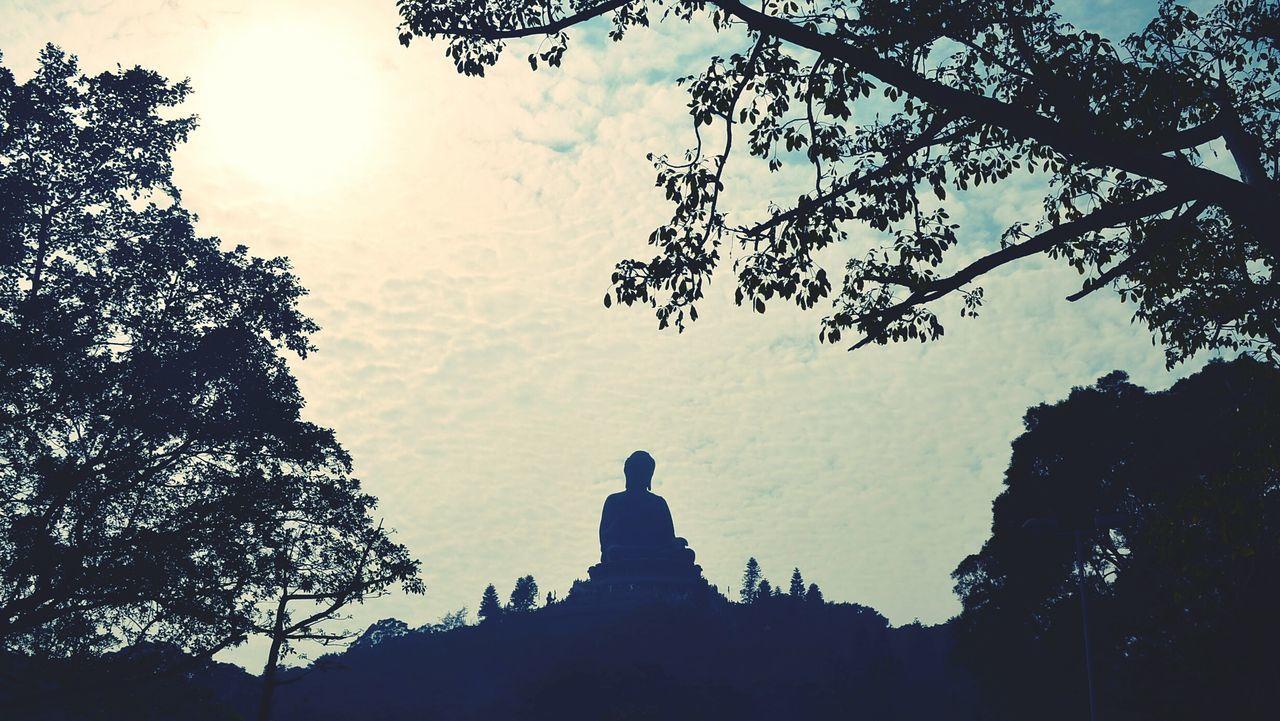 The Great Outdoors - 2017 EyeEm Awards Skyline Sun Travel Destinations TheBigBuddha Spirituality Built Structure Sky Outdoors Hongkongcollection Buddhism Tian Tan Buddha (Giant Buddha) 天壇大佛 Lantau Island Buddha Statues