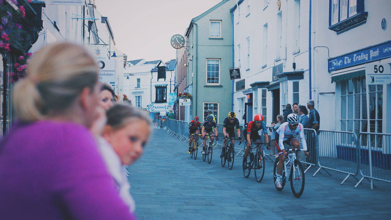 Abergavenny Cycling Cycling Race Criterium Elite Circuit Series Racing Spectator