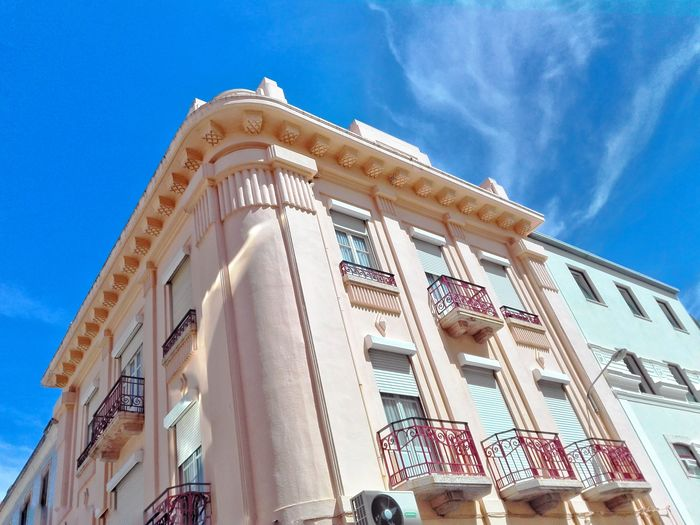 Architecture Low Angle View Built Structure Sky History Travel Destinations Building Exterior Blue Government Day Politics And Government Outdoors No People Figueira Da Foz, Portugal Portugal Close-up Residential Building Portuguese Architecture Tiles Portuguese Façade Architecture Pattern City Home