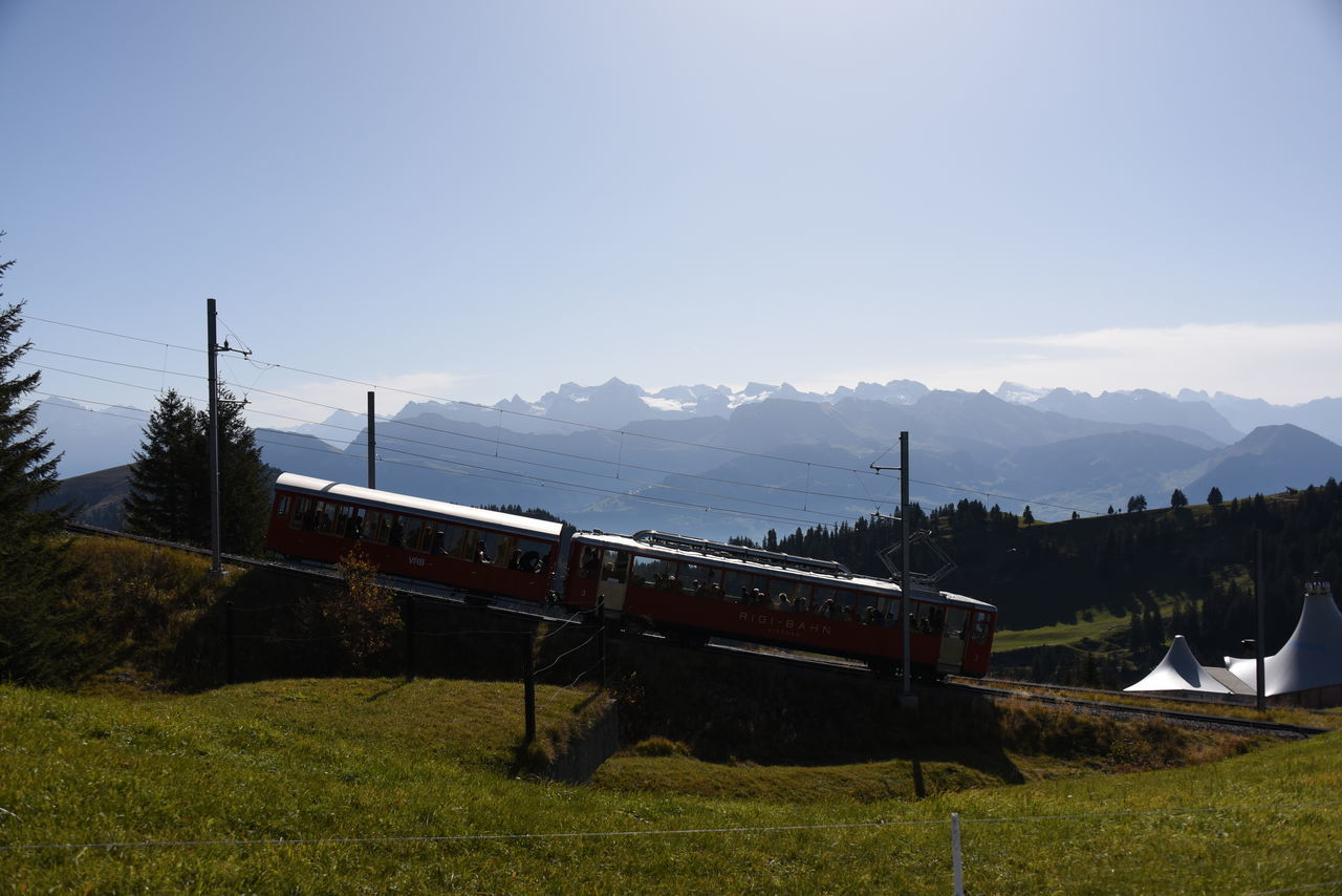 Eisenbahn Rigi Rigi Bahn Rigi Mountain Schweiz Zentralschweiz Railroad Switzerland